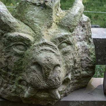 Lizard made of stone - make sculptures yourself