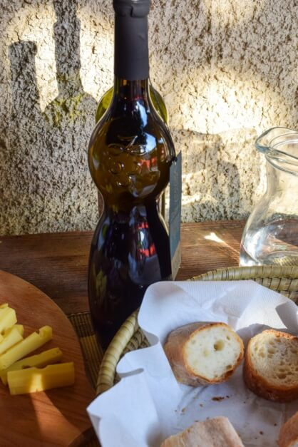 """Female"" wine bottle in the Vipava valley Slovenia"
