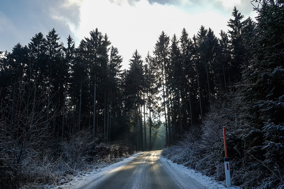 Access road to the Hotel Schwarz Alm in the Waldviertel Austria