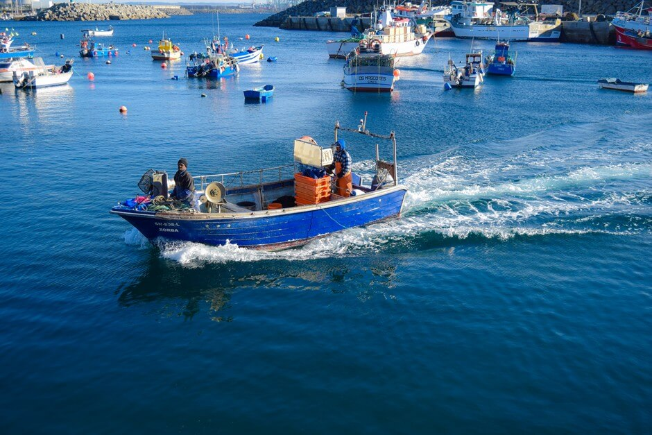 Fishing port of Sines belongs to the fishing path Portugal