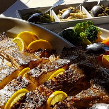 Portuguese fish specialties - grilled turbot