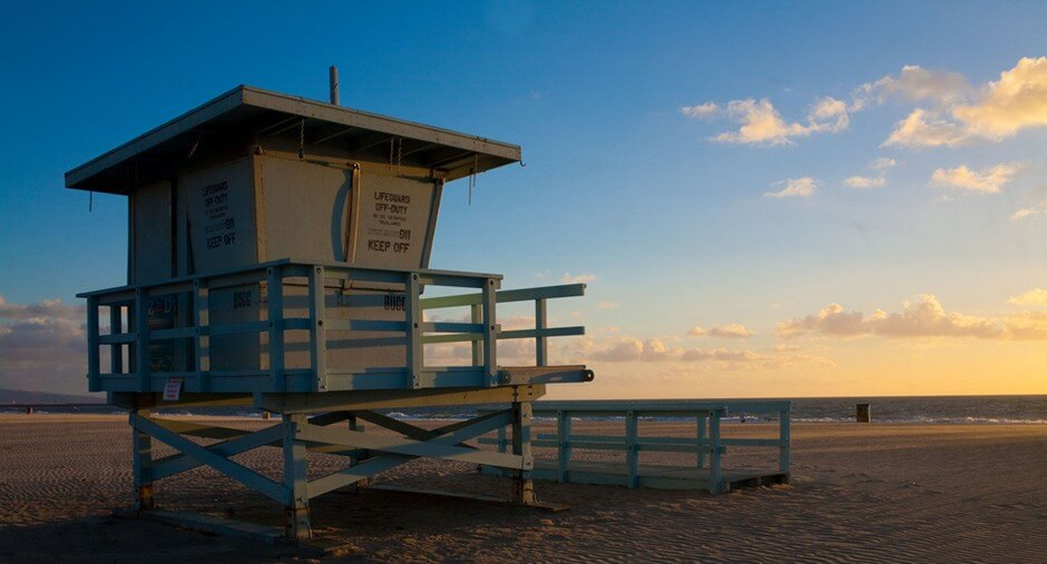 Venice Beach - one of the most beautiful beaches in California for a beach holiday California