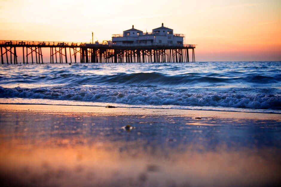 Malibu Beach - one of the most beautiful beaches in California for a beach holiday California