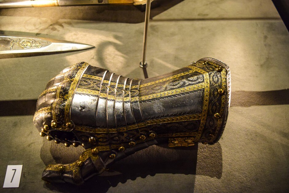 Culture and history in Vaduz - an armor hand