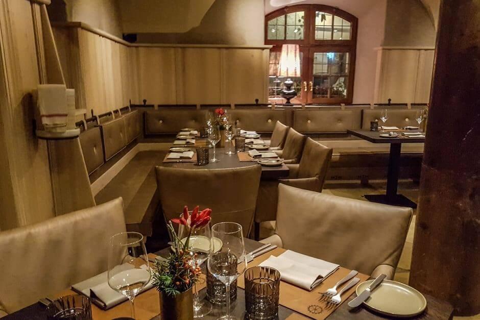 Gastraum im Restaurant Pfistermühle