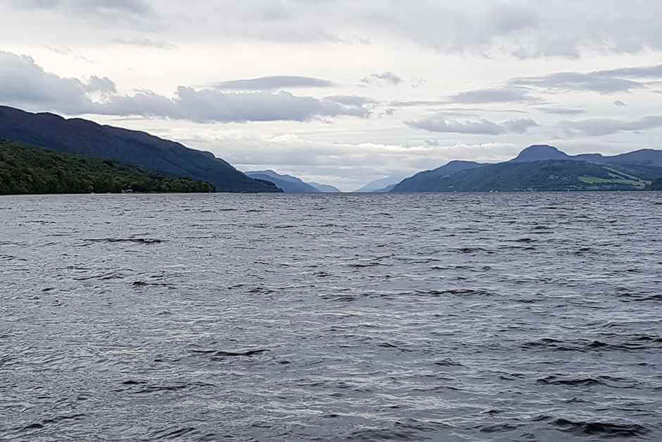 View from Dores Beach on Loch Ness near Inverness