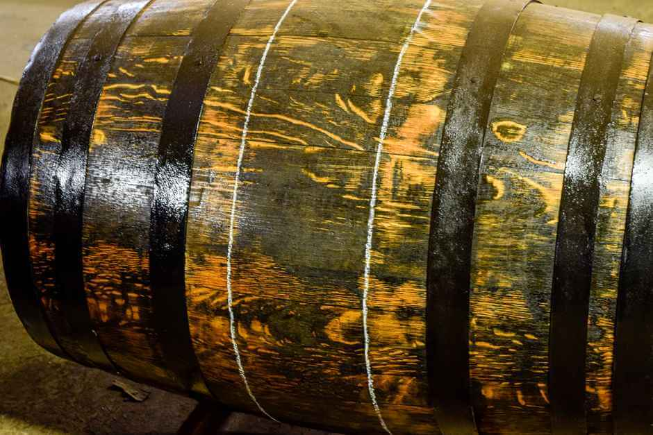 In barrels like this, Scottish whiskey matures