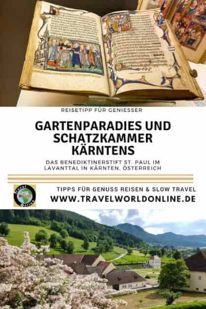 Garden Paradise and Treasury of Carinthia Monastery holiday in the Benedictine Abbey of St Paul in Lavanttal