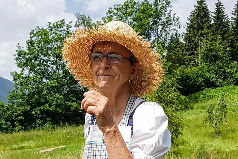 Enjoy your holiday with Inge Daberer in the herb garden