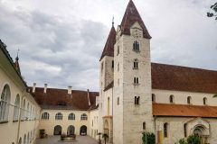 Collegiate church and monastery buildings