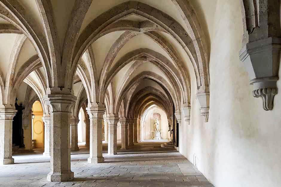 Das Skriptorium war im Mittelalter als einziger Raum beheizt