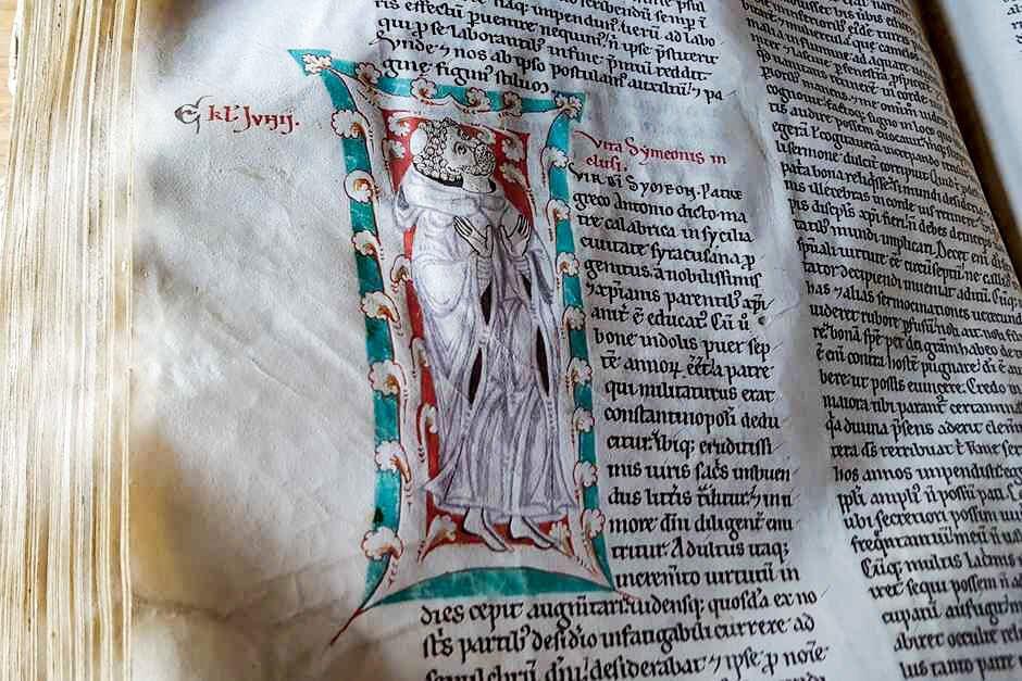 Von Mönchen auf Pergament geschaffen