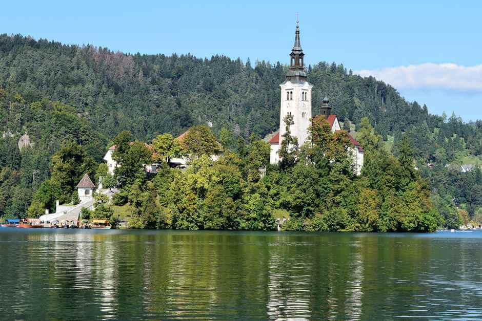 Church on the island in Lake Bled