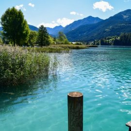 At the jetty in Neusach am Weissensee Carinthia