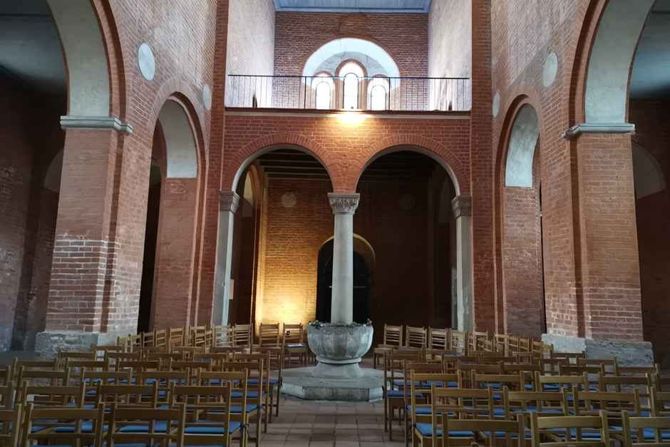 Church interior in Jerichow Monastery on the Romanesque Road in Saxony-Anhalt