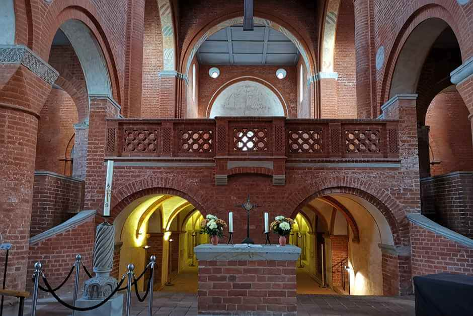 Nave in Jerichow Monastery on the Romanesque Road in Saxony Anhalt