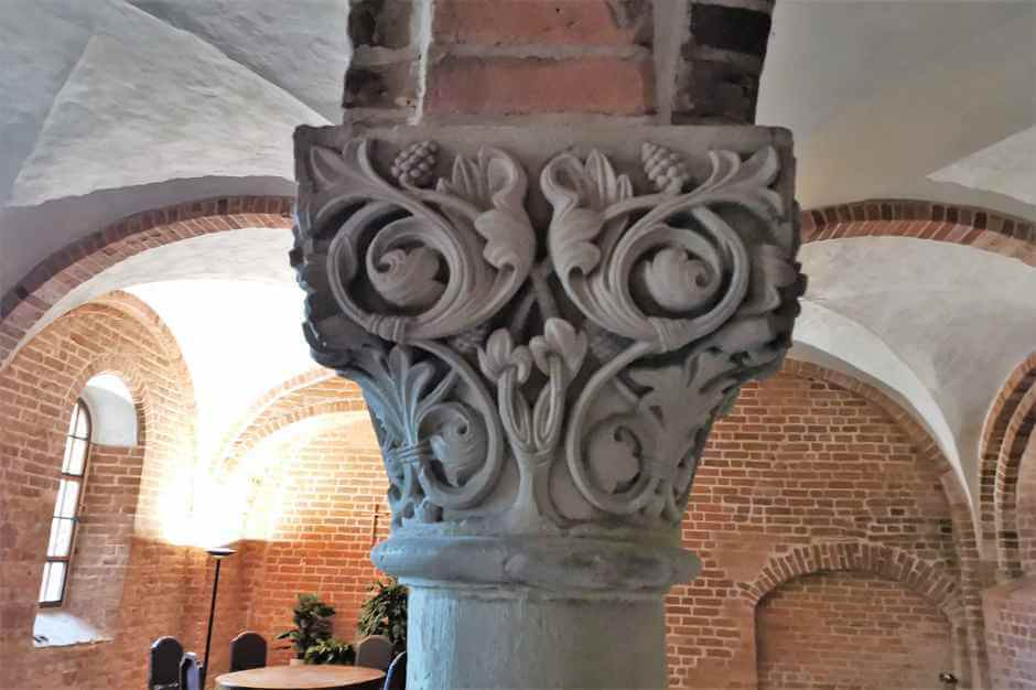 Romanesque capital in Jerichow Monastery on the Romanesque Road in Saxony Anhalt
