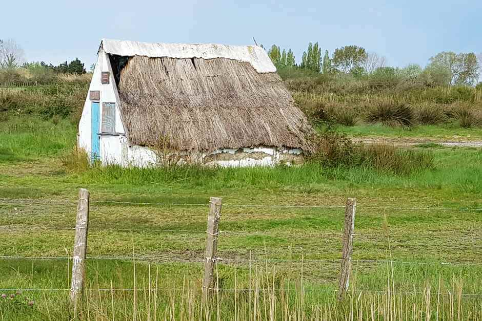 Bullfighters traditional hut in Camargue France
