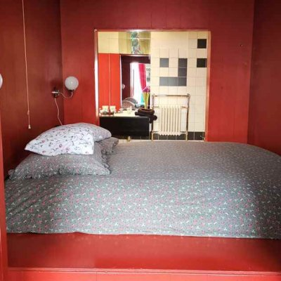 The bed in the smallest hotel in the world - Dutch North Sea coast