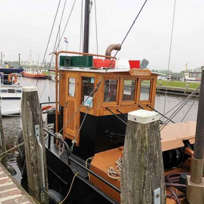 The Albatross - a former fishing boat for the exit on the Dutch North Sea coast