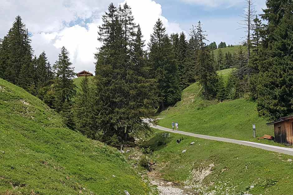 Hiking in Lofer is fun - provided you have wide walking shoes for wide feet