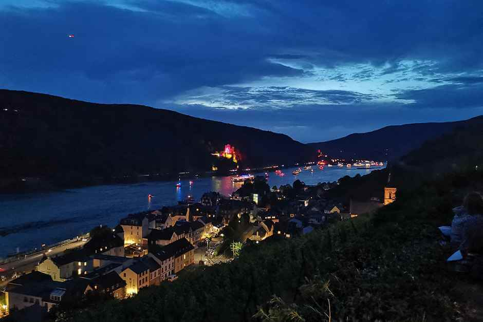 Assmannshausen at the Rhine in Flames Wine Events in Germany