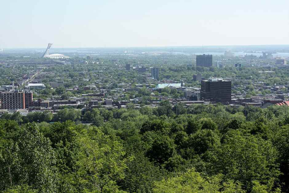 Residential district of Montreal