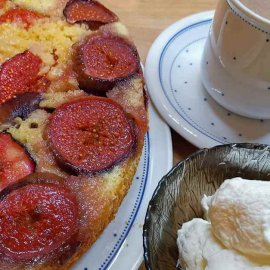 French baking - French fig cake with cinnamon chocolate