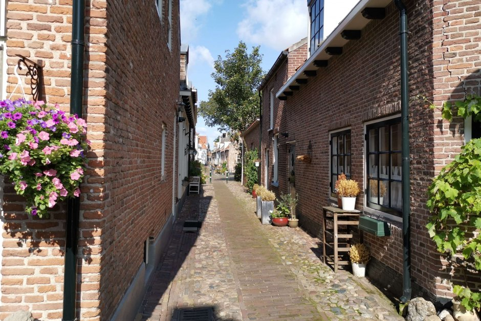 Narrow streets of Holland's beautiful cities