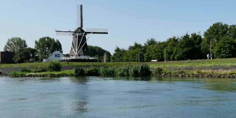 Windmill at Kampen, one of the Hanseatic cities in Holland
