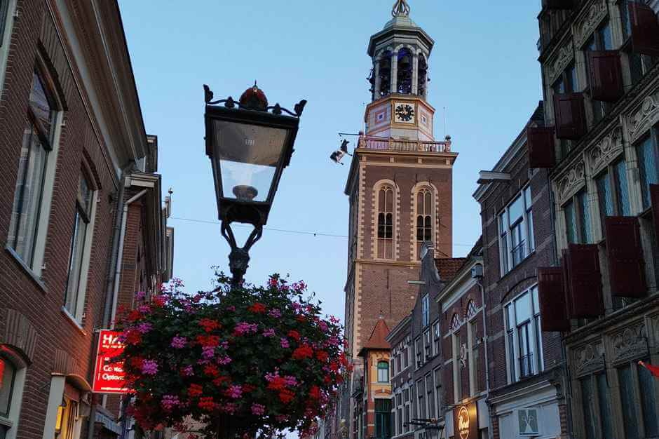 At the blue hour in Kampen