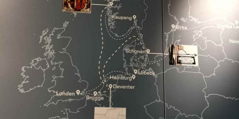 The trading area of ​​the Hanseatic League