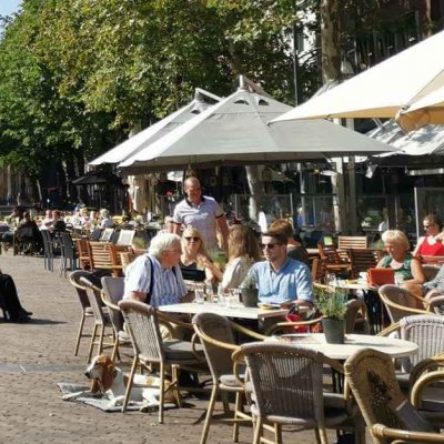Break in one of the sidewalk cafes - Holland's beautiful cities - Hanseatic cities in Holland