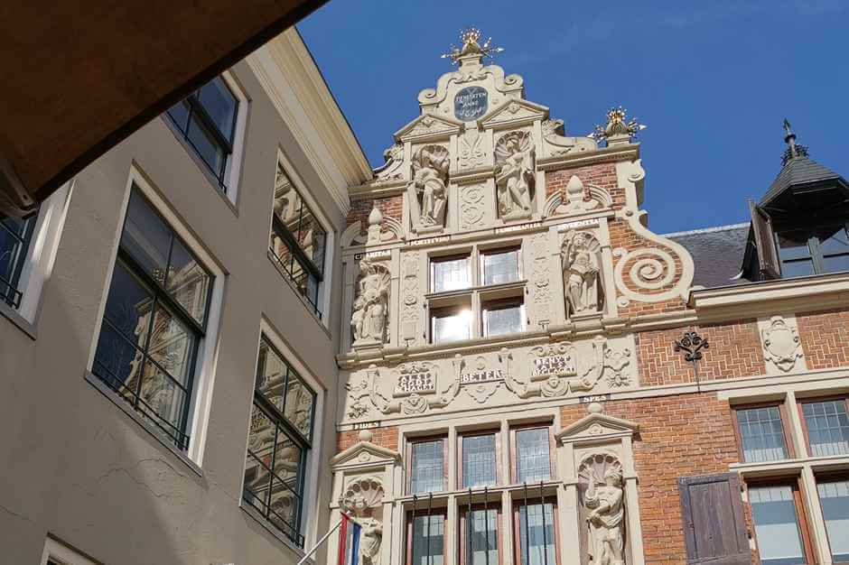 Renaissance building in Deventer - Holland's beautiful cities - Hanseatic cities in Holland