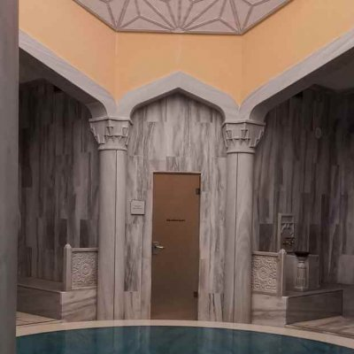 Loungers in the hammam