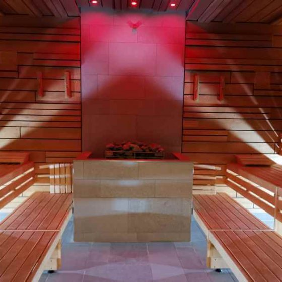 Sauna with colors in the Sibyllenbad in Bad Neualbenreuth in the Upper Palatinate Forest