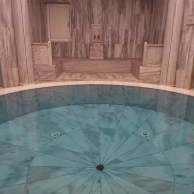 Central pool in the Hamam in the Sibyllenbad in Bad Neualbenreuth in the Upper Palatinate Forest