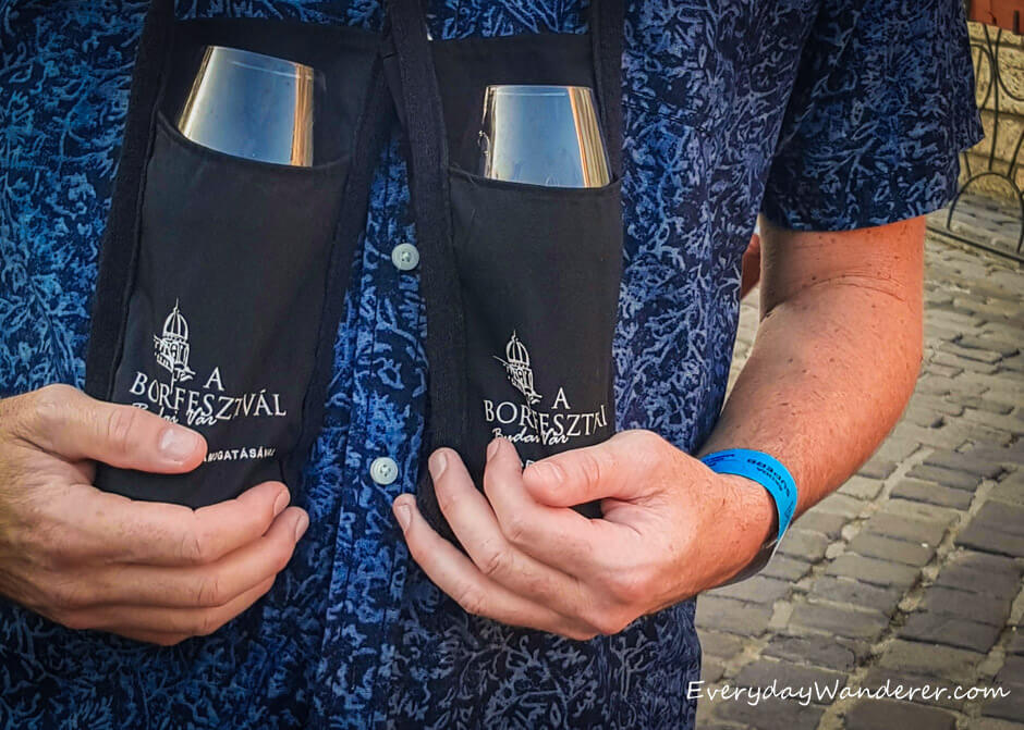 Wine Glass Holders at the Budapest Wine Festival - Photo by Sage Scott, the Everyday Wanderer