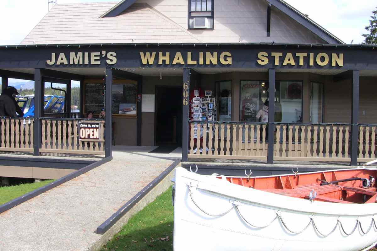 Jamie's Whaling Station at the Pacific Rim Whale Festival