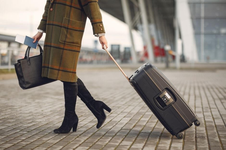 Suitcase, trolley or backpack when traveling by plane