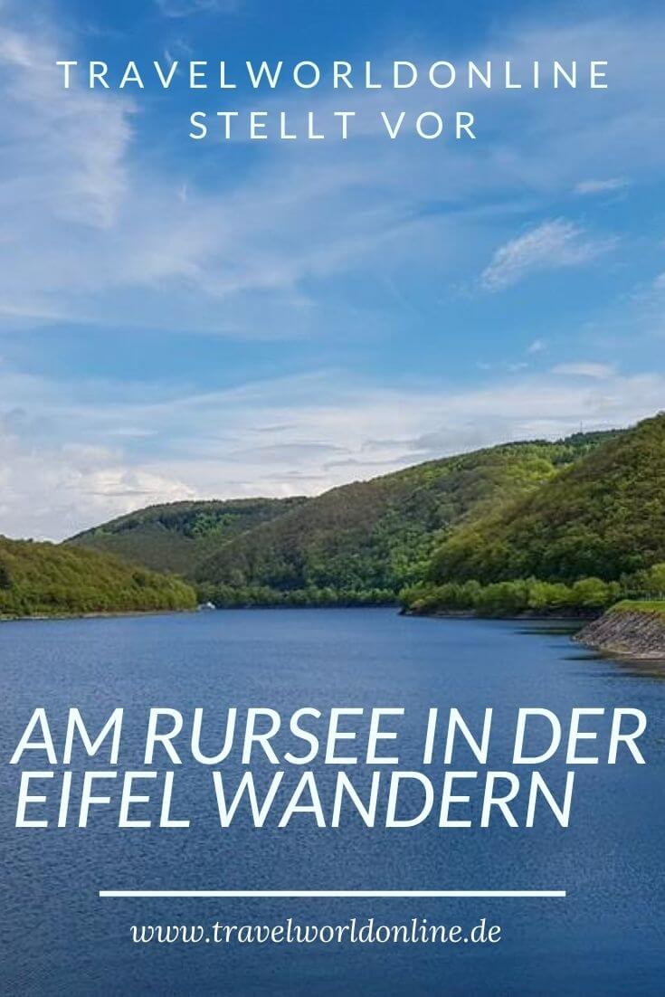 Hike at the Rursee in the Eifel
