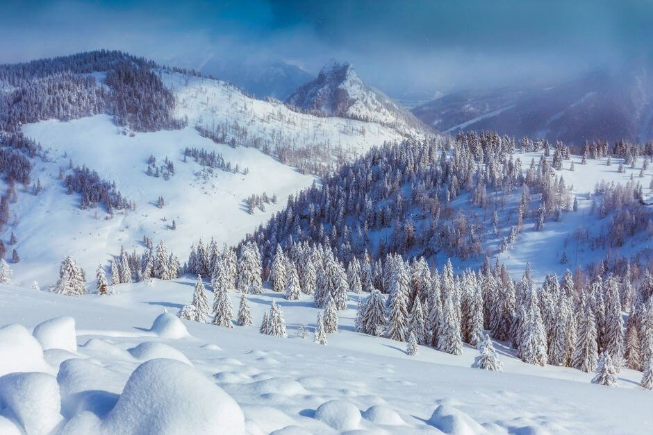 Austria in winter without skis