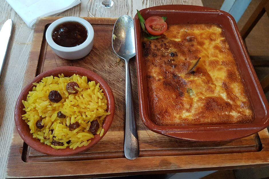 Bobotie recipe as served in Falmouth Cornwall
