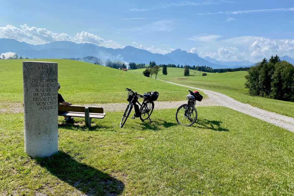 Bike tour in the foothills of the Alps