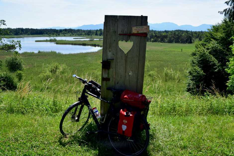 Bicycle tour in the foothills of the Alps