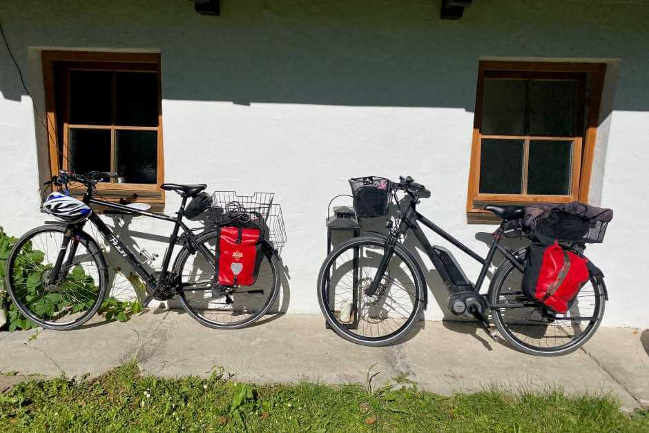 Spend the night on a bike tour